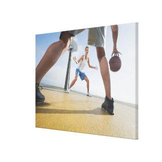Basketball players canvas print