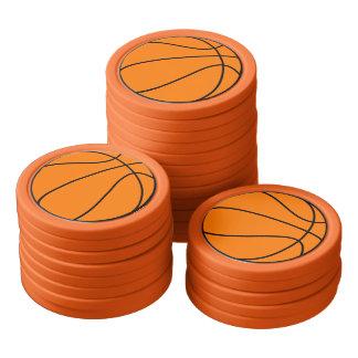 Basketball Poker Chip Set