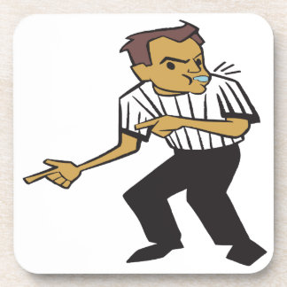 Basketball Referee Beverage Coasters