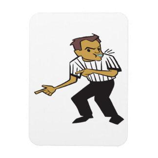 Basketball Referee Rectangular Photo Magnet