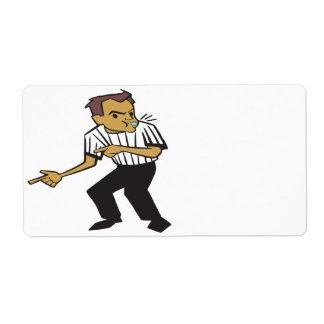 Basketball Referee Shipping Label