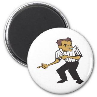 Basketball Referee 6 Cm Round Magnet
