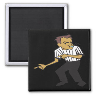 Basketball Referee Square Magnet