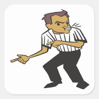 Basketball Referee Square Sticker