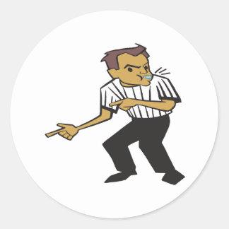 Basketball Referee Round Sticker