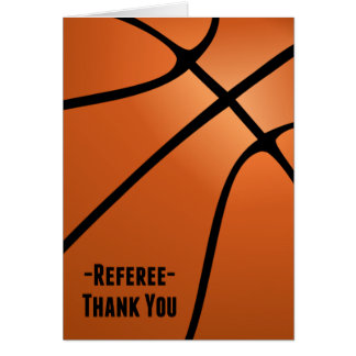 Basketball Referee Thank You-Blank Inside Note Card