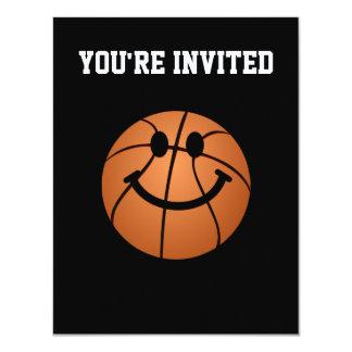 Basketball smiley face card