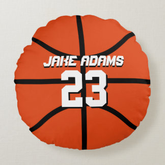 Basketball Sports Team Personalised Round Pillow