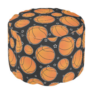 Basketball Star Pattern Pouf