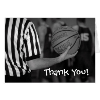 basketball, Thank You! Greeting Card