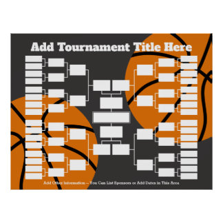 Basketball Tournament Bracket Poster