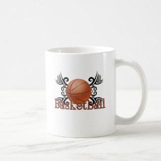Basketball Tribal 1 Basic White Mug
