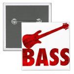 Bass Guitar Pinback Buttons