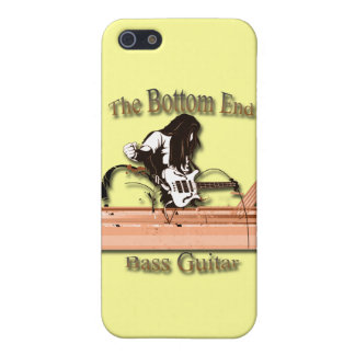 Bass Guitar the Bottom End brown iPhone 5 Case