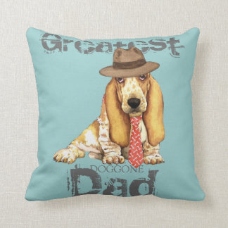 Basset Dad Throw Pillow