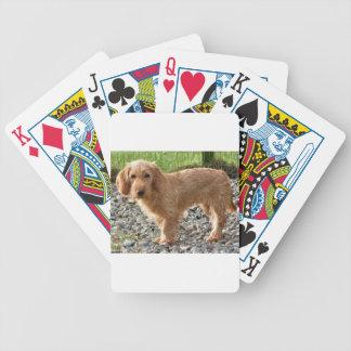 Basset Fauve de Bretagne Dog Bicycle Playing Cards