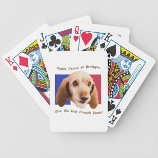 Basset Fauve deBretagne Give Best French Kisses Bicycle Playing Cards