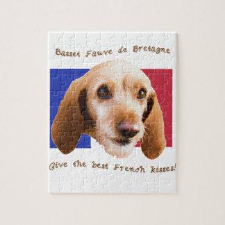 Basset Fauve deBretagne Give Best French Kisses Jigsaw Puzzle