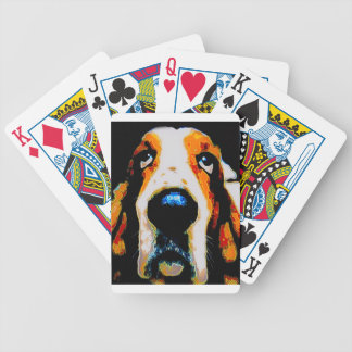 Basset Hound art Bicycle Playing Cards