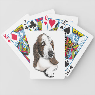 Basset Hound Beauty Bicycle Playing Cards