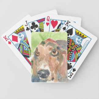 Basset Hound Bicycle Playing Cards