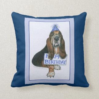 Basset Hound Birthday Pillow