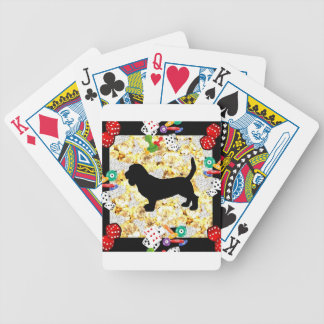 BASSET HOUND BLING BICYCLE PLAYING CARDS