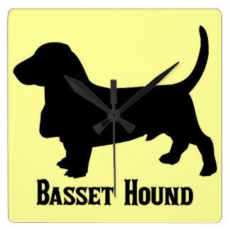Basset Hound Wallclocks