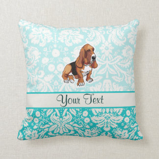 Basset Hound; Cute Throw Pillow