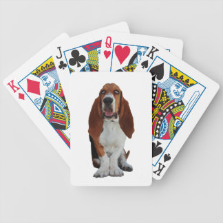 Basset Hound dog beautiful photo, gift Bicycle Playing Cards