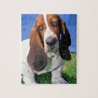 Basset Hound Dog Design Jigsaw Puzzle