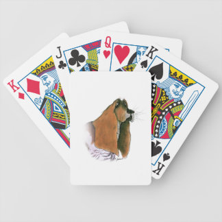 Basset Hound Dog, tony fernandes Bicycle Playing Cards