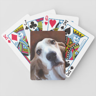 Basset Hound Fine Art Painting Portrait Bicycle Playing Cards