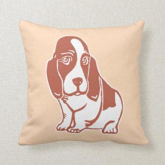 Basset Hound Light Creme Pillow