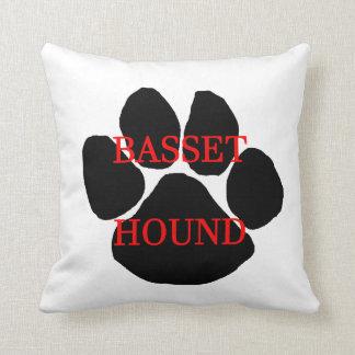 basset hound name paw cushion