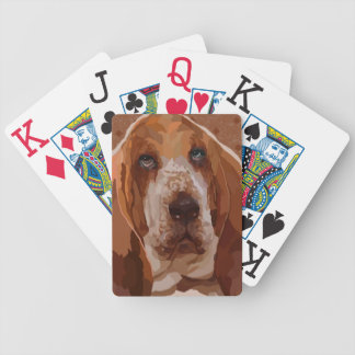Basset Hound Painting on Playing Cards