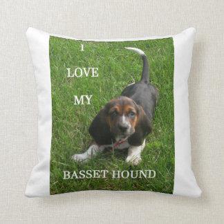 basset hound pic w love cushion