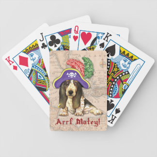 Basset Hound Pirate Bicycle Playing Cards