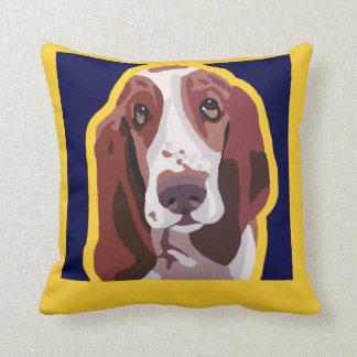 Basset Hound Pop Art Abstract add pets name Pillow
