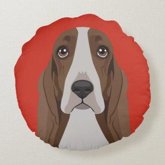 Basset Hound Round Cushion