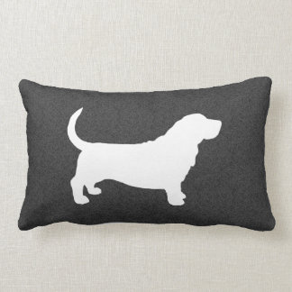 Basset Hound Silhouette Lumbar Cushion