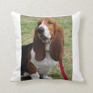 basset-hound-sitting.png throw pillow