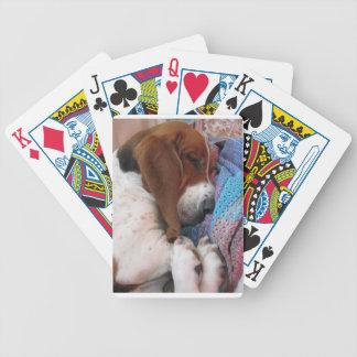 Basset Hound Sleeping Card Deck