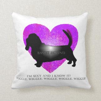 Basset Hound! Throw Pillow