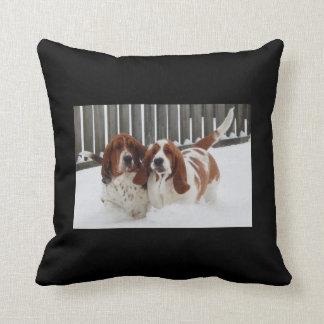 Basset Hound Throw Pillow. Throw Pillow