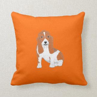 Basset Hound Throw Pillows, or cushions
