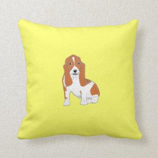 Basset Hound Throw Pillows or cushions