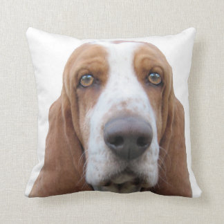 Basset Hound To Howl About Throw Pillow