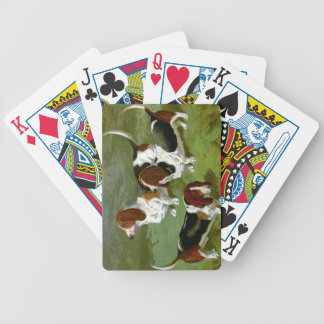 Basset Hounds Bicycle Playing Cards