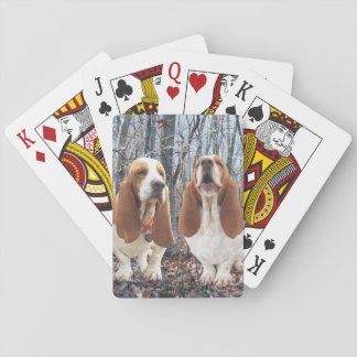 Basset Hounds in the Woods Playing Cards